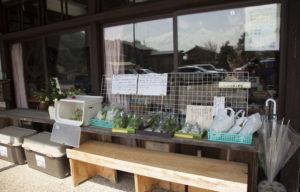 おはぎ屋前の地元野菜販売