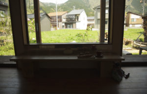 あさひ屋ベーカリー店内から外の風景