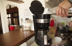 汲んだ水でコーヒー