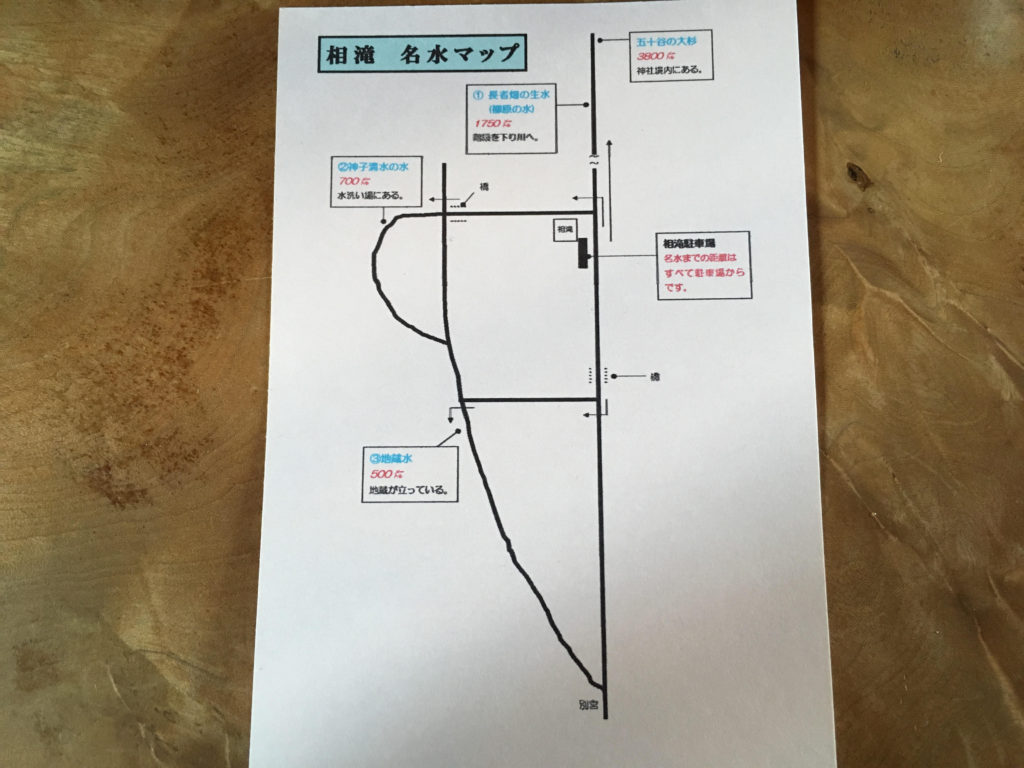 相滝からの名水マップ