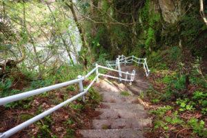 綿ケ滝 階段