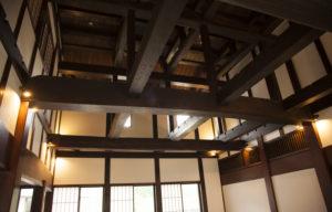 比咩の湯休憩室の天井