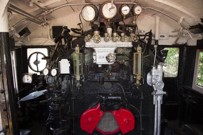 蒸気機関車の中