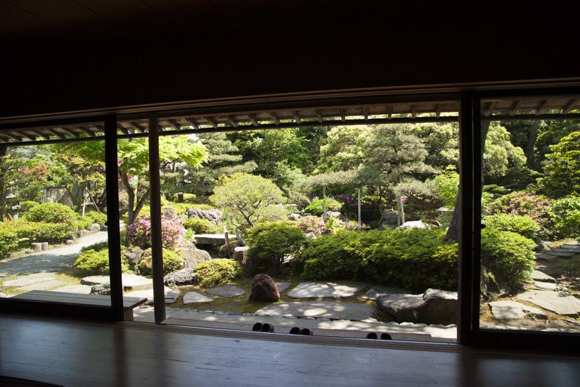 松任ふるさと館の奥の庭