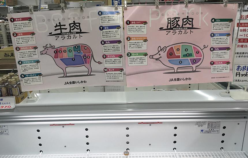 JA松任肉コーナー