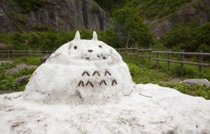トトロ雪だるま