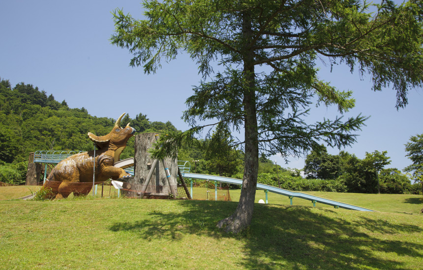 恐竜パーク滑り台