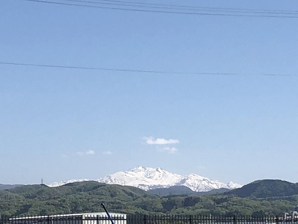 白山が綺麗に見えました。